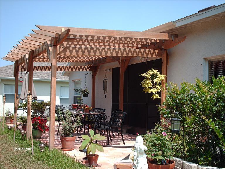 Plans Build A Pergola Attached To House