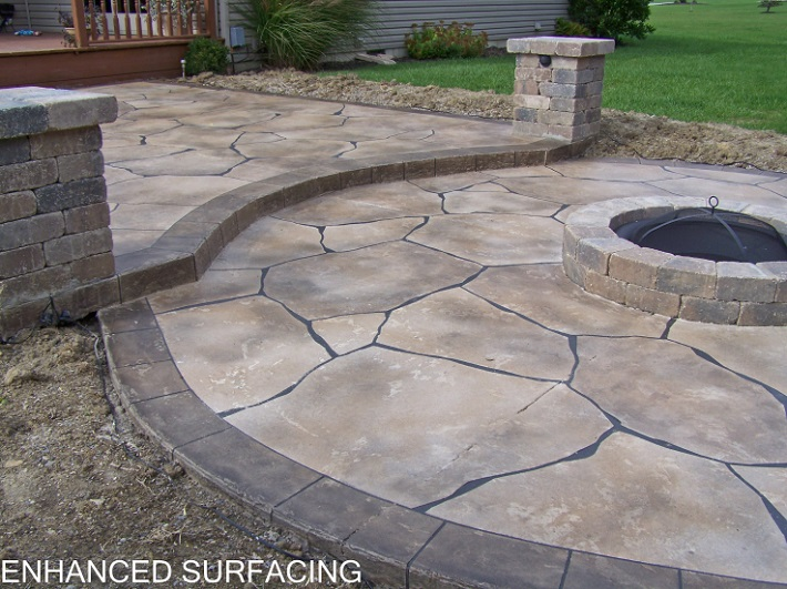 Fire Pit In Concrete Patio