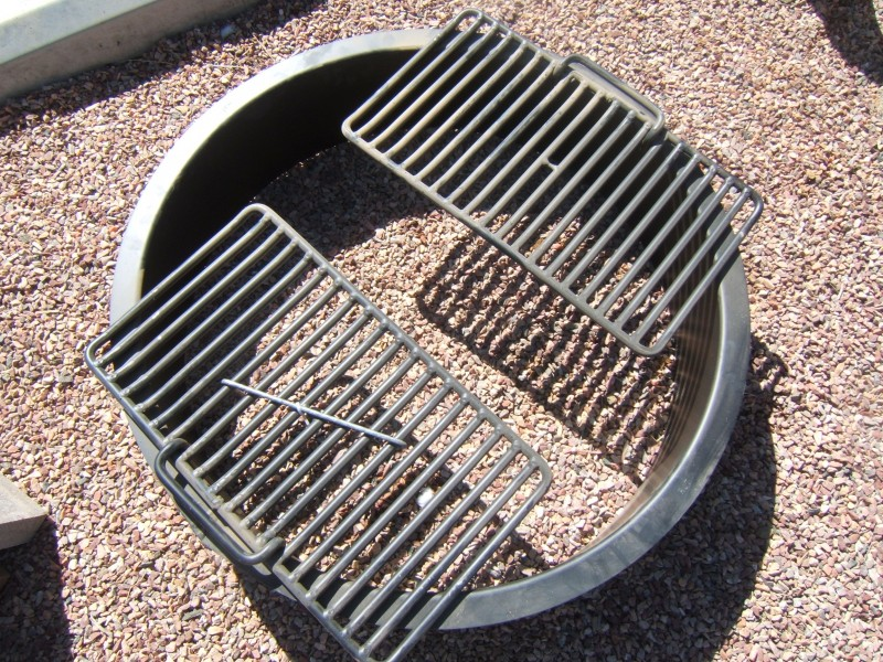 Fire Pit Ring Insert With Grate