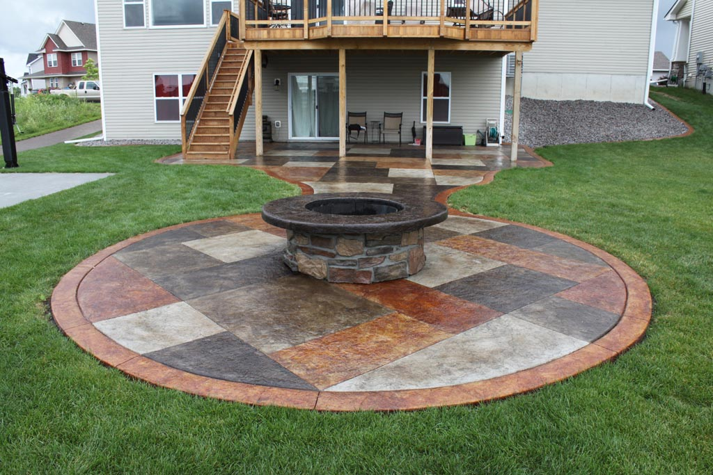 Painted Concrete Patio Ideas Stained Concrete For Exterior Porches Patios  Decorative Concrete Of Virginia Ideas Painting