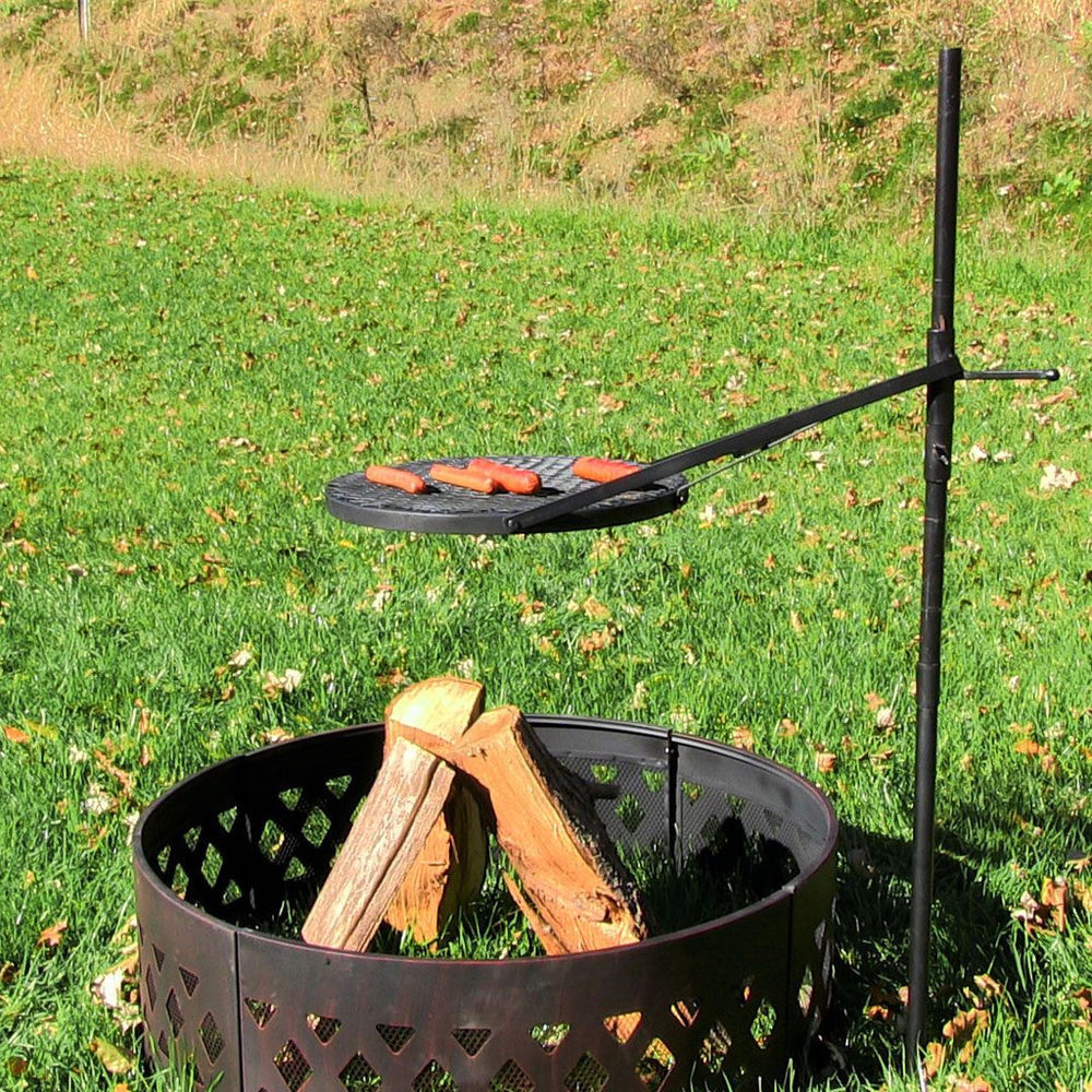 incredible outdoor fire pit cooking grate garden landscape