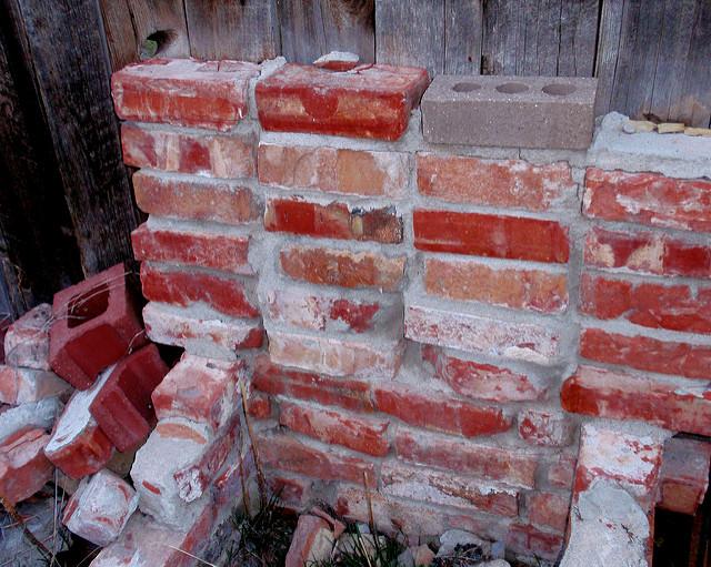 old fire bricks pit