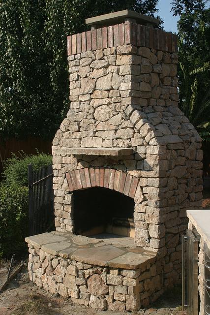 fire fireplace outdoor masonry pit installation tulsa fireplaces outdoot