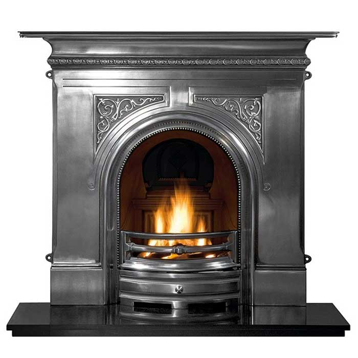 Fireplace heat reflector cast iron