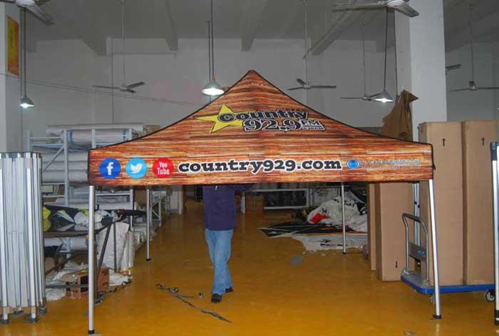 Printed gazebo canopy