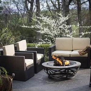 Approved fire pit patio set