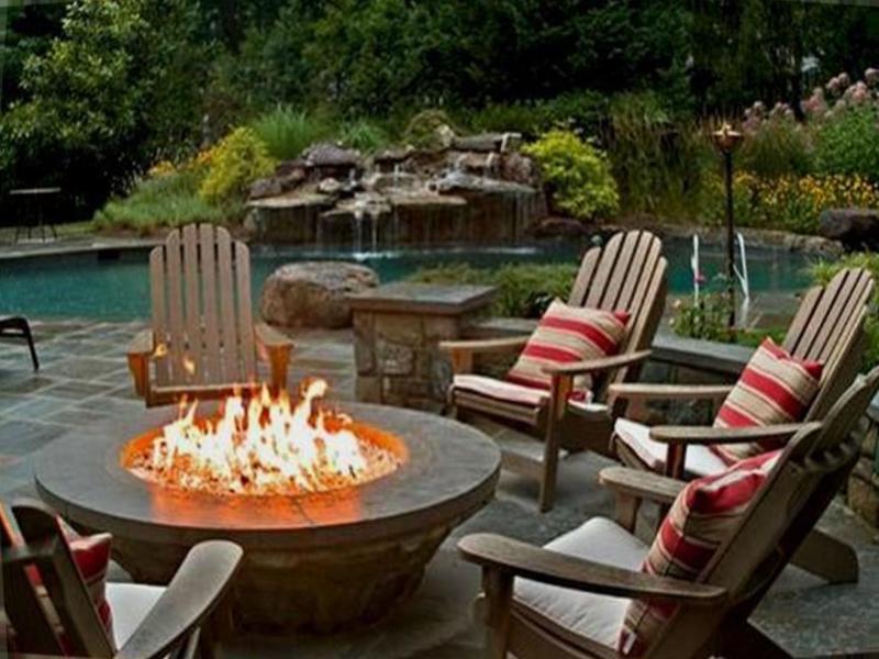 Astounding fire pit patio set