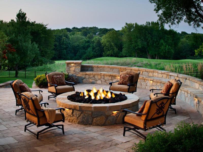 Cheap fire pit patio set
