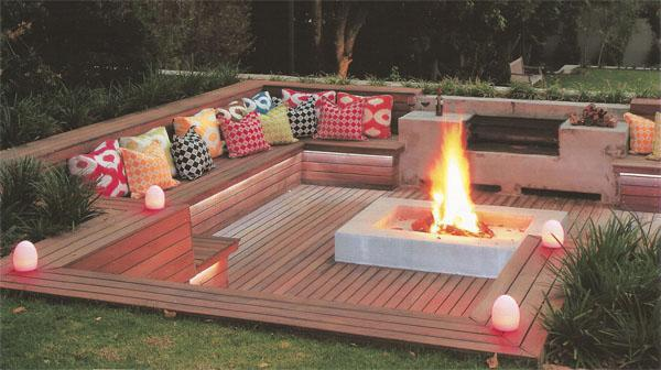 Comprehensible fire pit seating area ideas