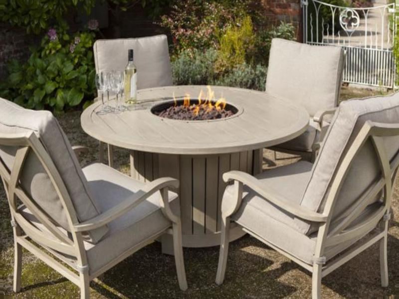 Fantastic fire pit in table