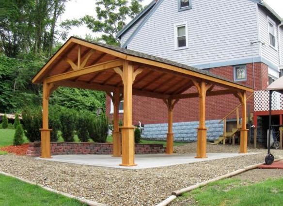 Garden treasures wooden gazebo
