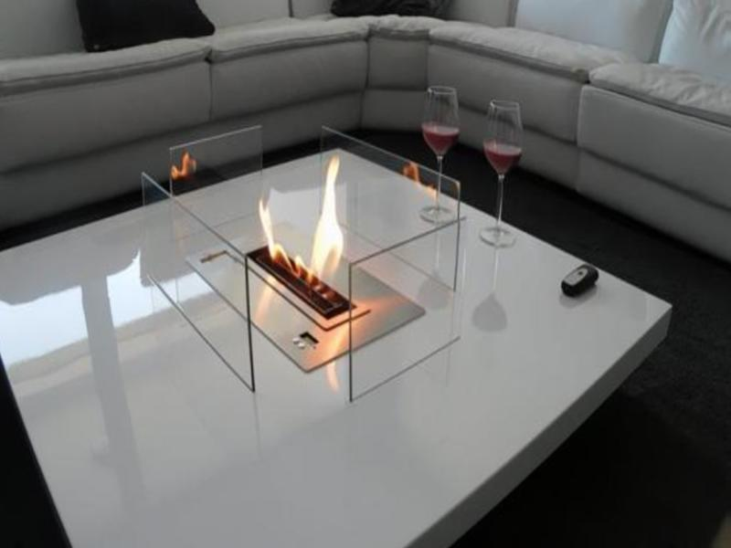 Mean fire pit in table
