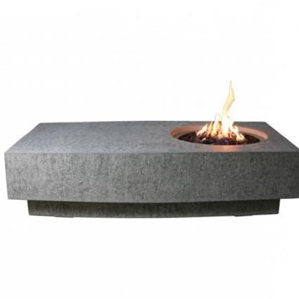 Pleasing fire pit in table