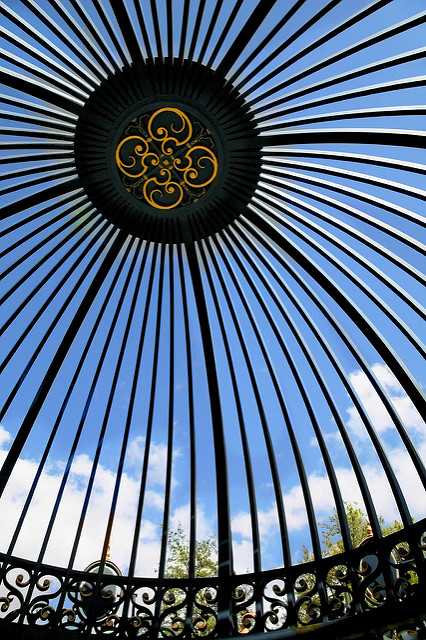 blue sky metal kew iron curves snap gazebo ironwork kewpalace