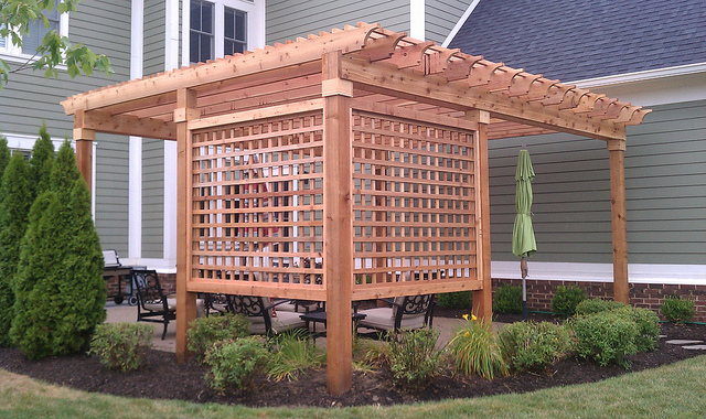 landscape idea design pergola
