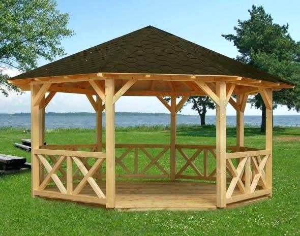 Bewildering octagon screened gazebo