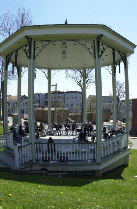 Concert venue octagon screened gazebo