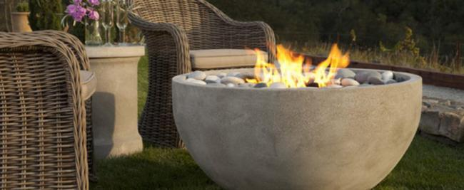 Prevailing fire bowl table