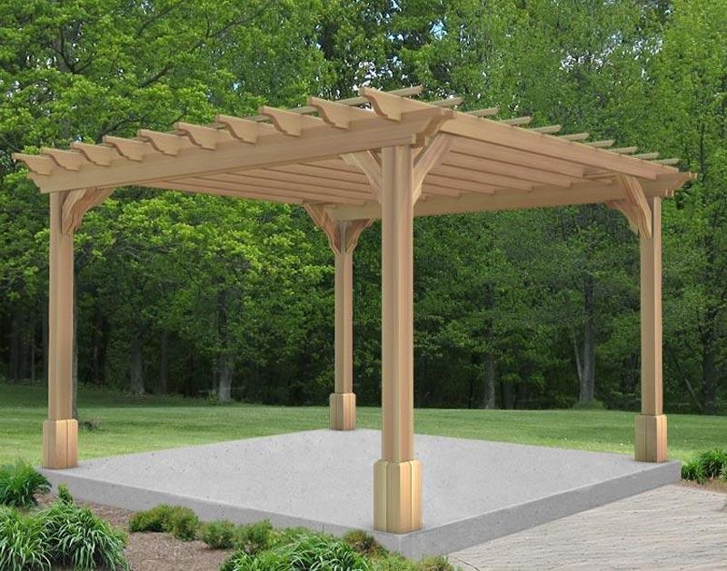 Cedar Pergola For A Refined Outdoor Environment