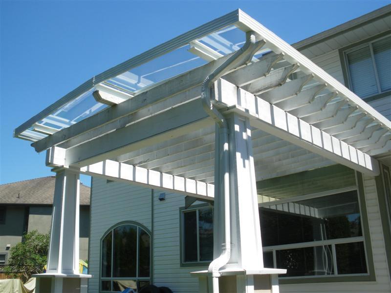 Glass Pergola Roof
