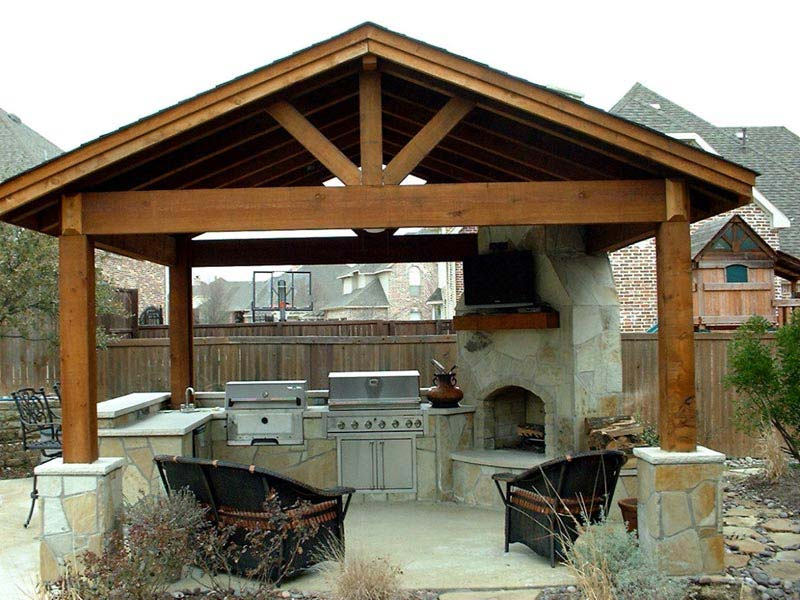 Wood pergola images