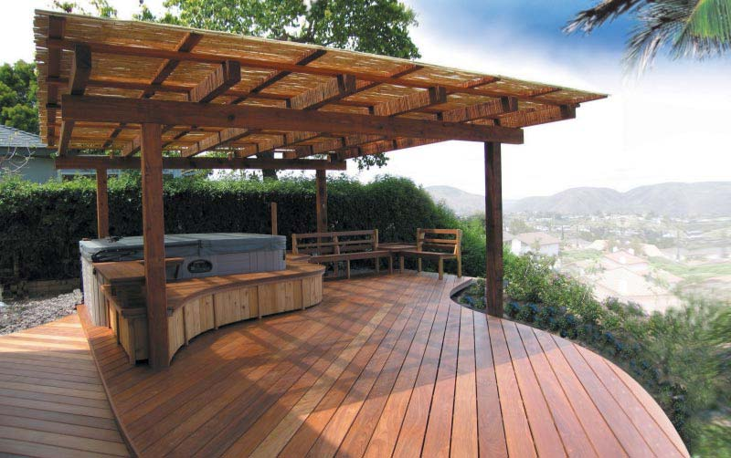 Backyard Patios Ideas With Hot Tubs