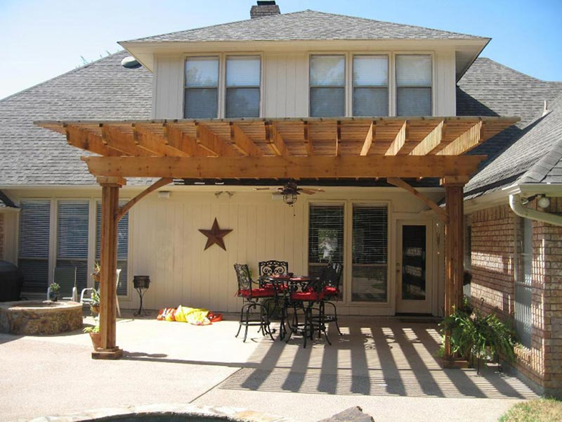Building A Pergola Attached To The House