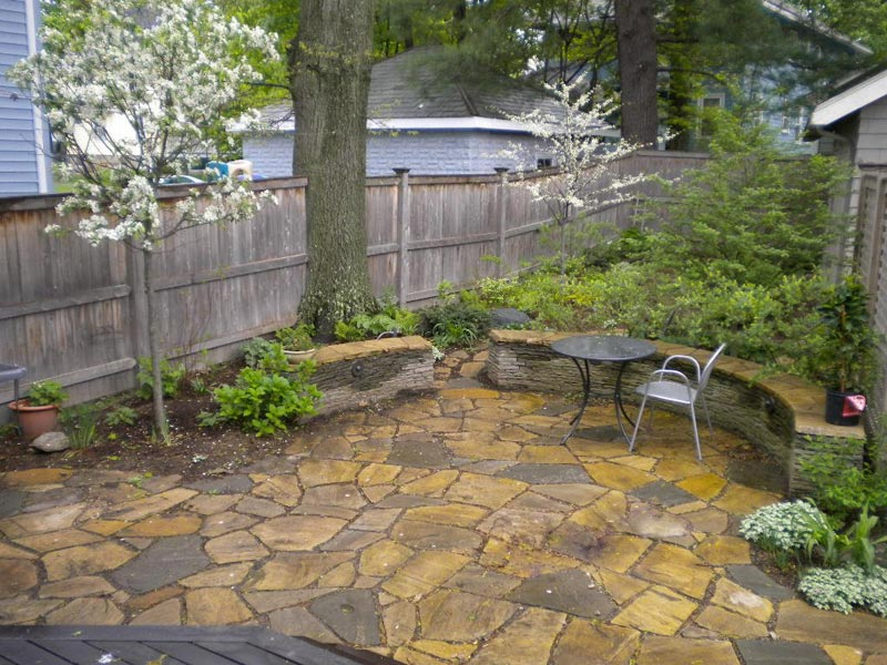 Flagstone Patio Designs Enclosed