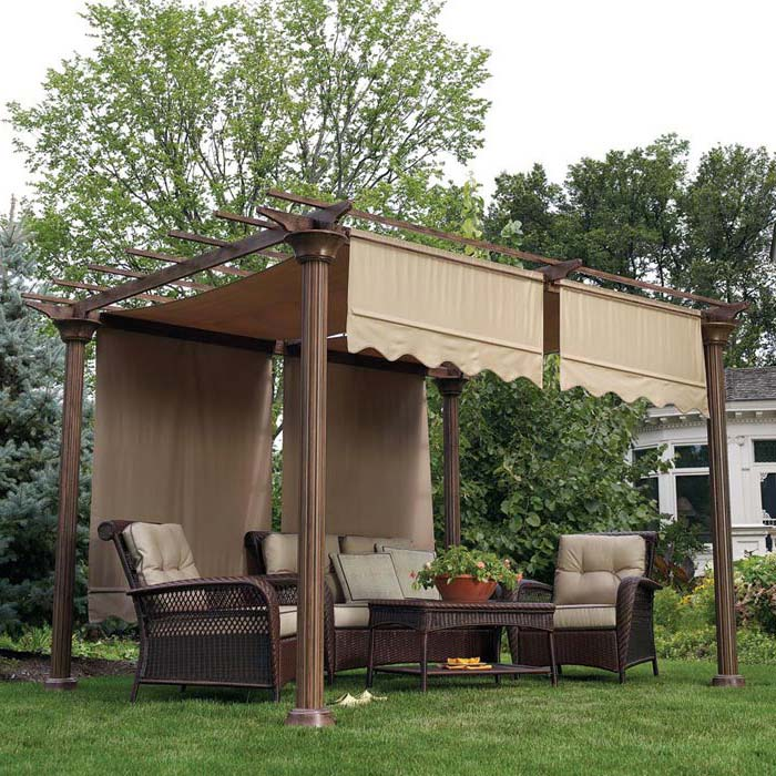 Garden Oasis Curved Pergola Replacement Canopy
