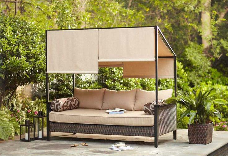 Hampton Bay Patio Daybed With Canopy