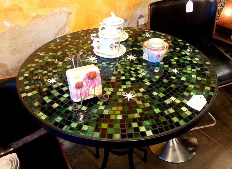 Mosaic Patio Table Green