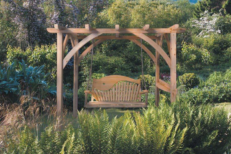 Outdoor Patio Pergola 3 Seater Swing