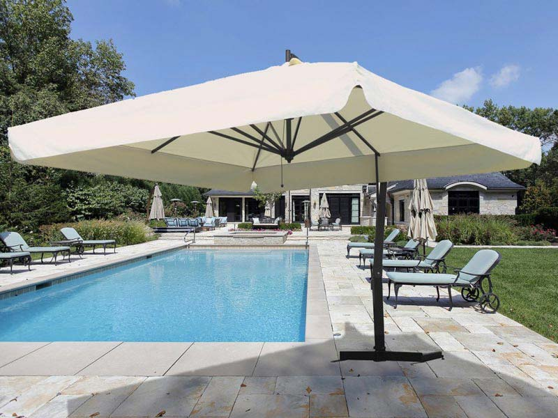 Patio shading on a budget for you with cantilever patio umbrella