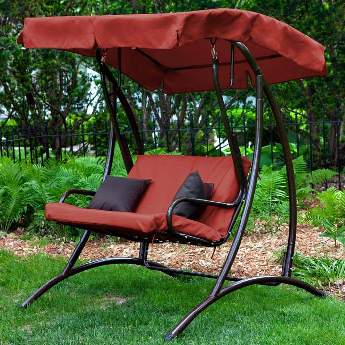 2 Person Patio Swing With Canopy