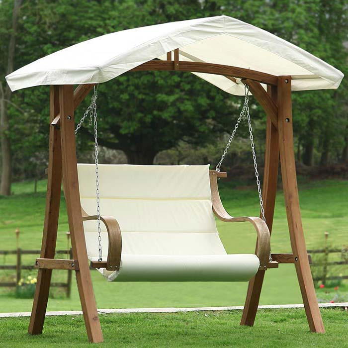 2 Seat Patio Swing With Canopy