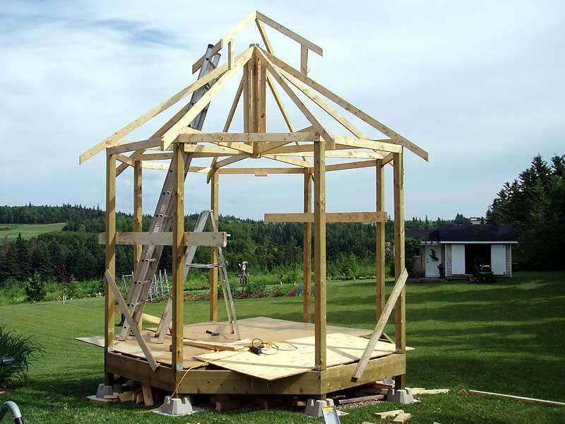 Build Gazebo Roof