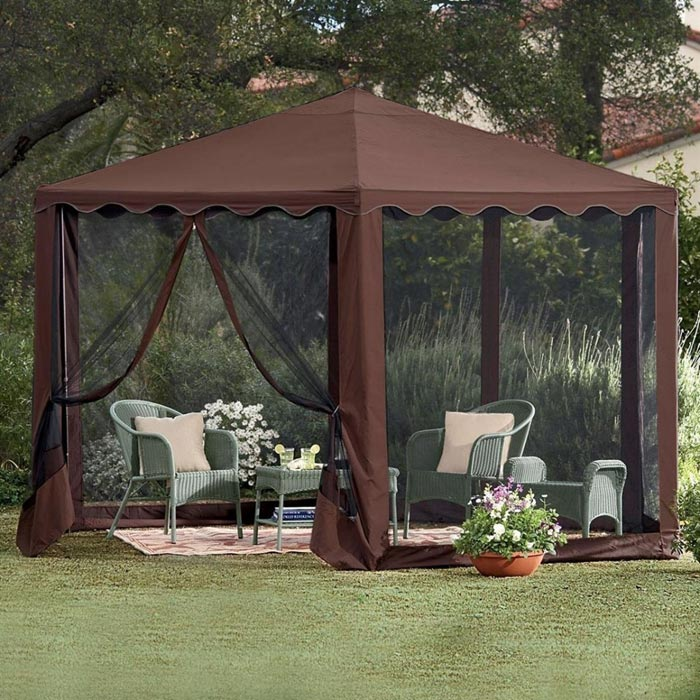 Patio Gazebo With Mosquito Net
