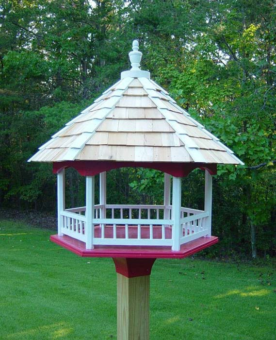 Wooden Gazebo Bird Feeders