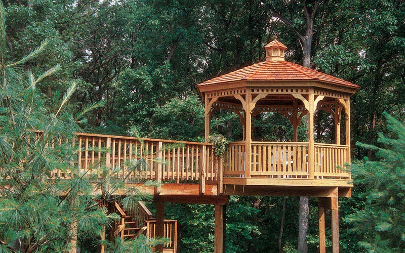 Natural Wood Gazebo
