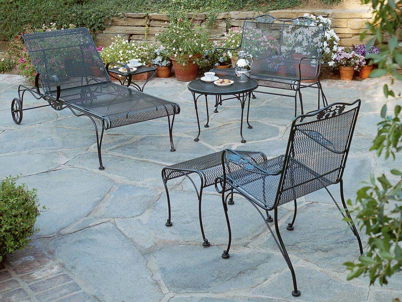 Expanded Metal Patio Chairs