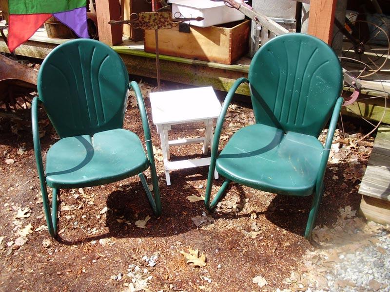 Retro Metal Patio Chairs Sale