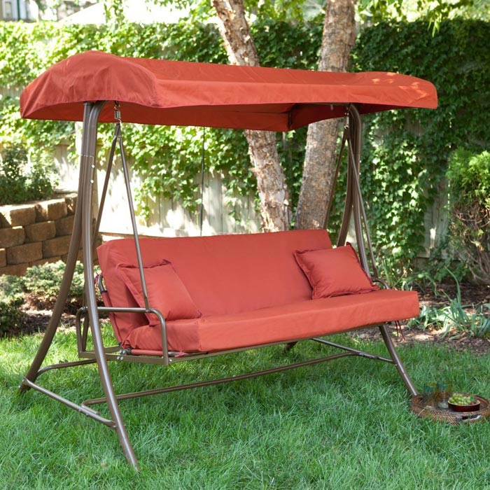 3 person patio swing with gazebo
