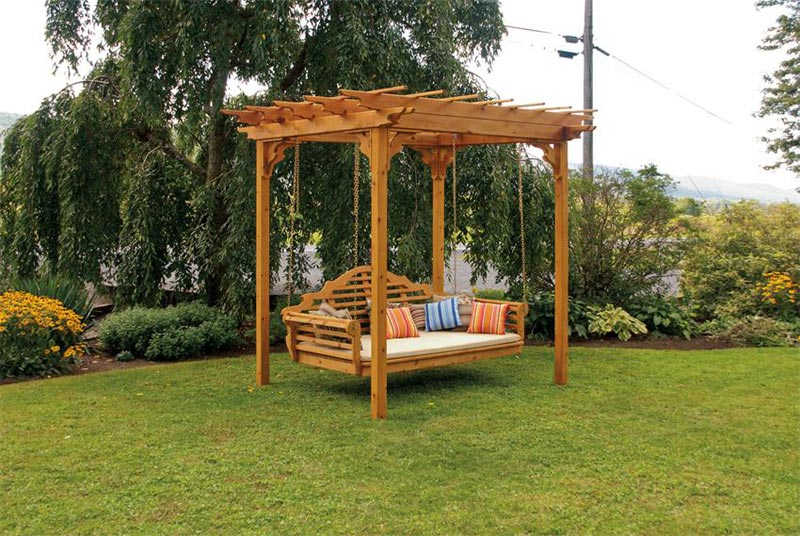Engage in pergola construction for pastimes