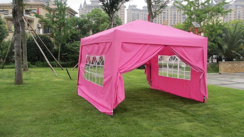 Easy pop up gazebo with sides