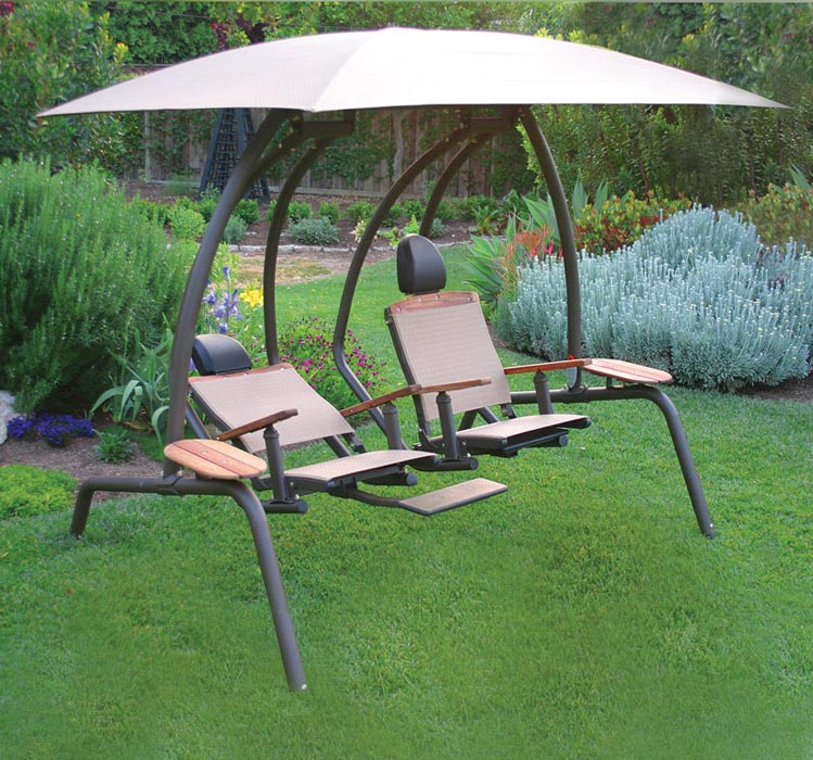 2 person patio swing set with canopy