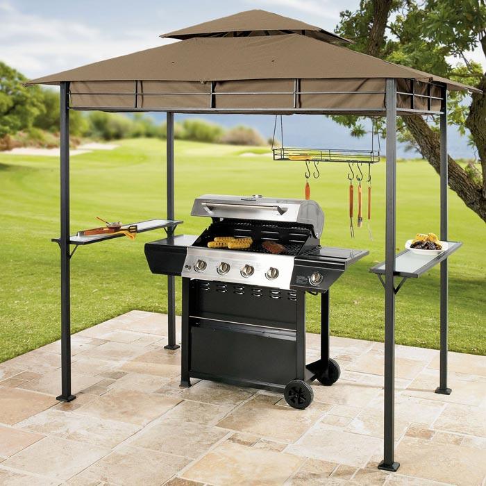 Barbecue gazebo canopy