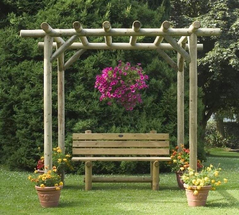 Rustic garden pergola