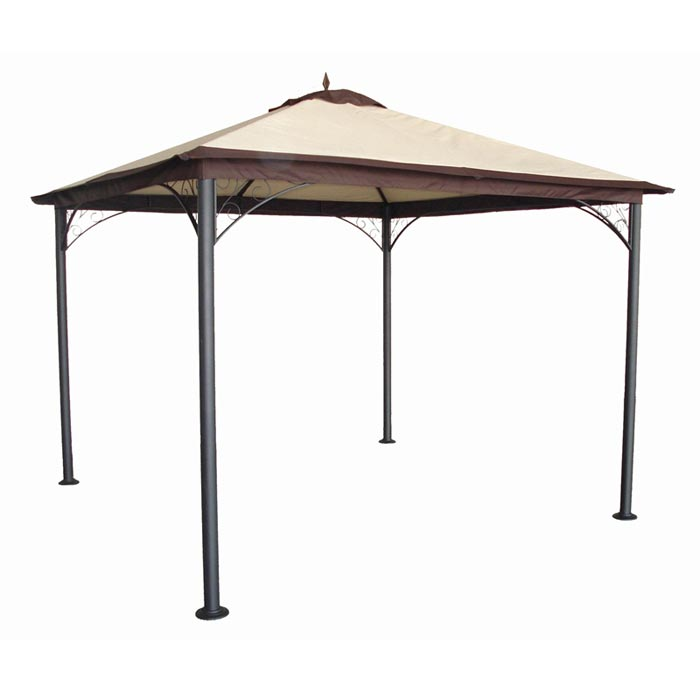 Semi permanent outdoor gazebo