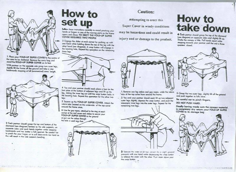 Camping gazebo instructions