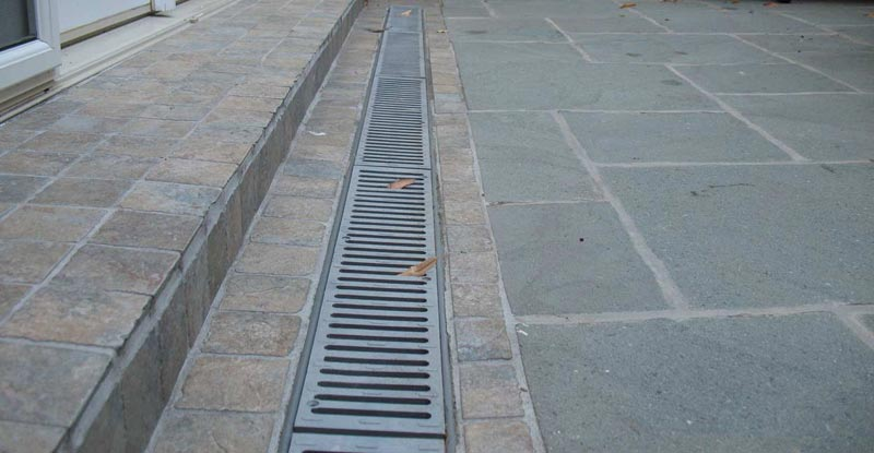 Patio drainage solutions
